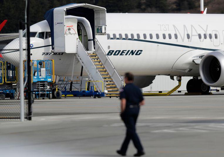 Een Boeing 737 Max-toestel. Beeld AP