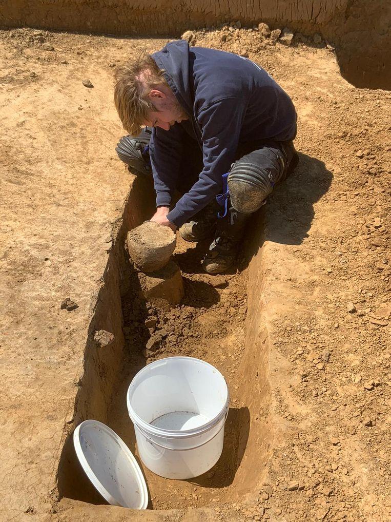 Opgravingen in Gingelom. Beeld ARON