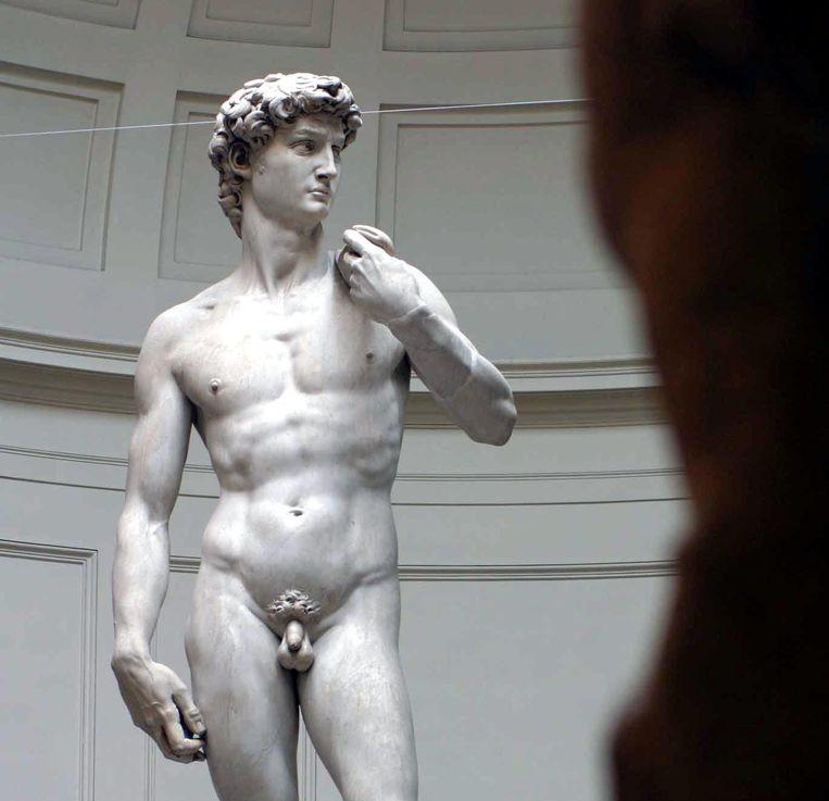 David uit het Oude Testament kreeg van Michelangelo een voorhuid. Beeld EPA