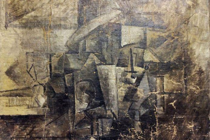Een deel van een foto van het kunstwerk