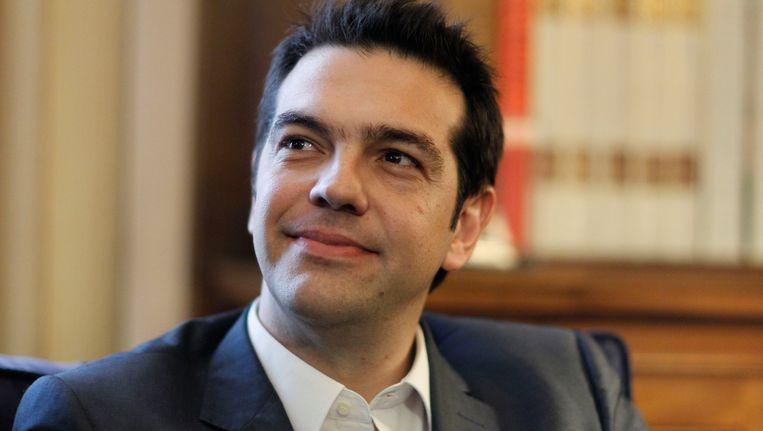 Alexis Tsipras, leider van de Griekse radiaal linkse partij Syryia. Beeld AP