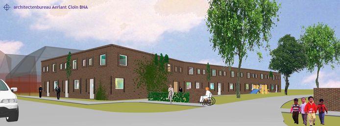 Een bouwplan in Hoogerheide: drie ouderenwoningen en zes starterswoningen. 