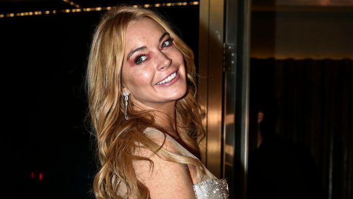 Lindsay Lohan tijdens de opening van haar club