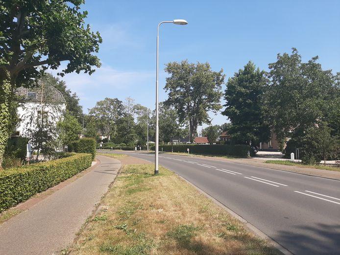 De bewuste bocht van de Rijksstraatweg bij Twello een dag later.
