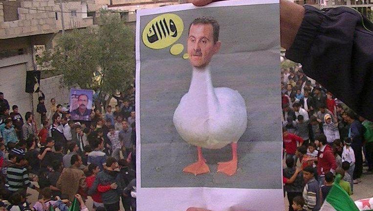 Foto vrijgegeven door de Syrische oppositie. Beeld AFP