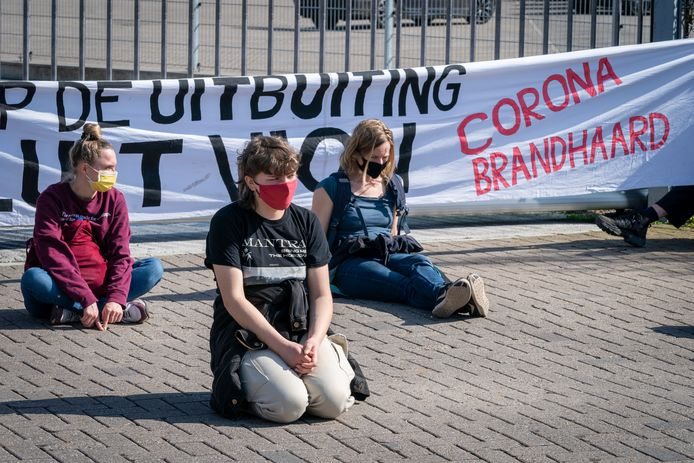 Met zijn zevenen waren ze dinsdagochtend in Boxtel, de actievoerders van Sluit VION! Voor vier van hen eindigde de blokkade van de aanvoer van varkens in de politiecel.