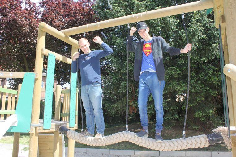 Leerlingen van De Horizon speelden in het park op de eerste dag van de opening.