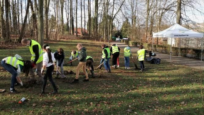Schoolkinderen planten 185 inheemse bomen en struiken in Jan van Ruusbroecpark