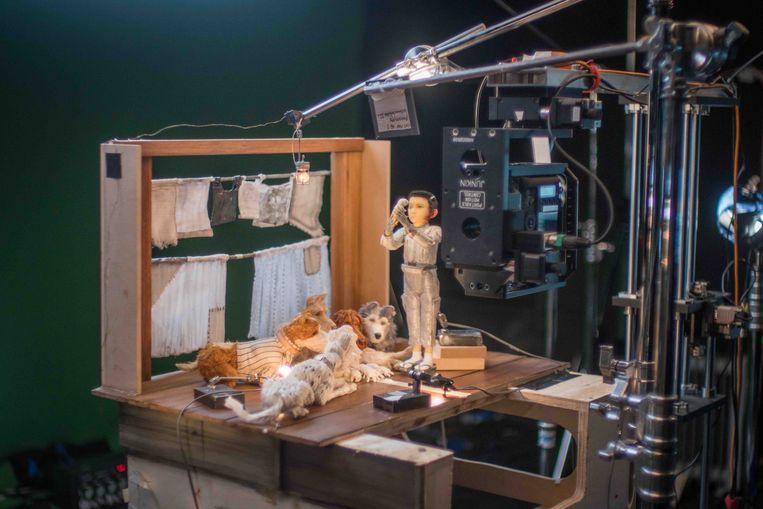 Op de set van 'Isle of Dogs'. Beeld rv