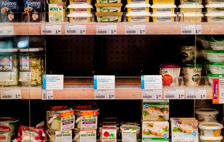 Het platleggen van transportbedrijf Bakker Logistiek, waardoor er geen kaas in winkels van Albert Heijn lag, was het gevolg van een kwetsbaarheid in Microsoft Exchange die al langer bekend was. Beeld ANP