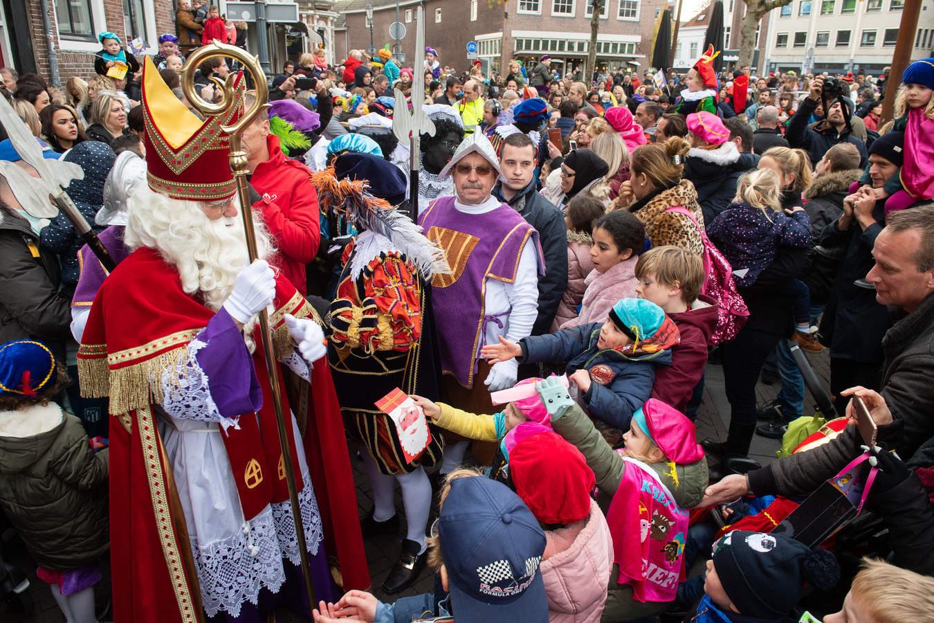 De intocht van Sinterklaas in Breda in 2019.