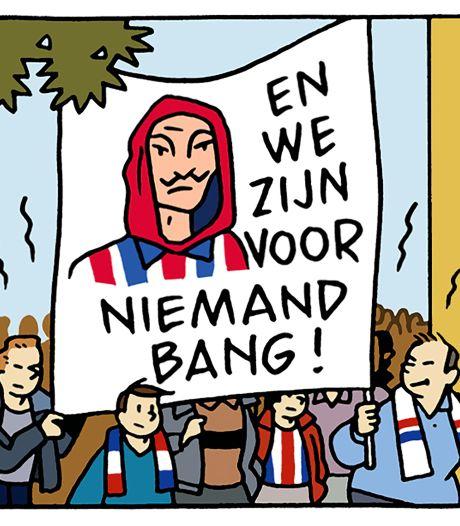 Jordens Peters en John Feskens bestaan nu ook als stripfiguur in 125 jaar Willem II-roem en glorie