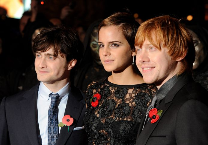Daniel Radcliffe, Emma Watson en Rupert Grint speelden de hoofdrollen in de Harry Potter-films.