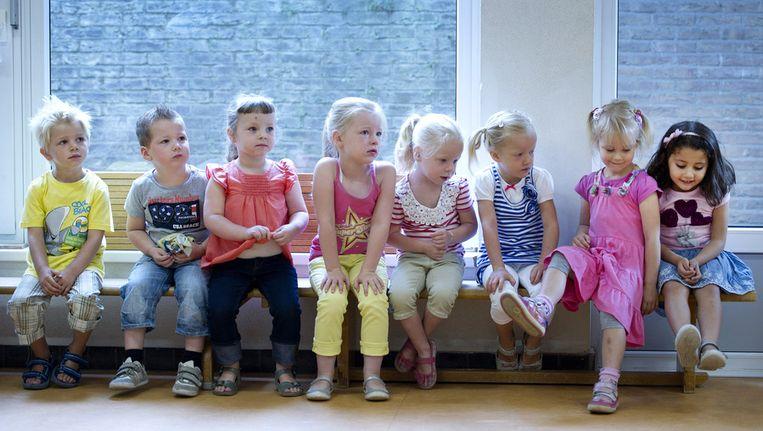 Kinderen van een basisschool Beeld ANP