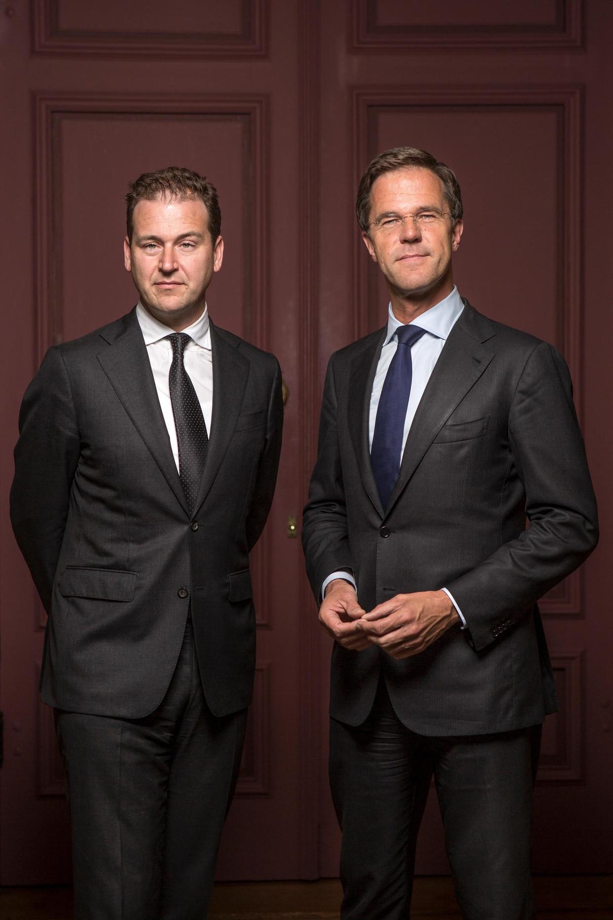 Lodewijk Asscher en Mark Rutte in 2017. Beeld Mike Roelofs