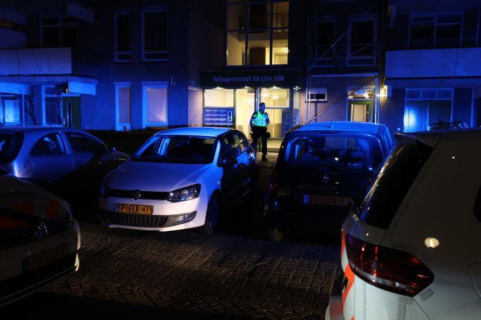 Steekpartij aan de Tellegenstraat in Eindhoven.