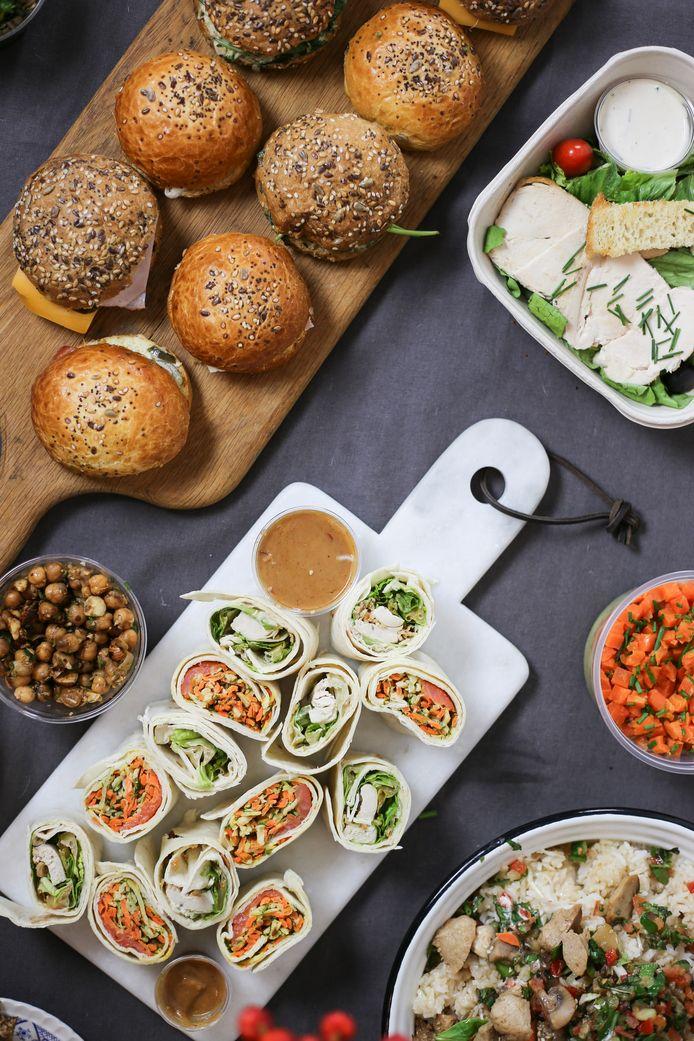 Sandwiches, salades, wraps, petit-déjeuner, soupes ou jus de fruits composent l'offre de BON.