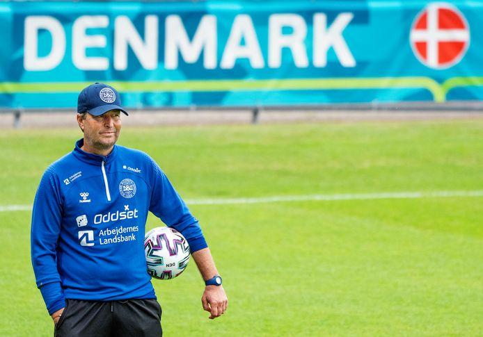 Kasper Hjulmand, de bondscoach van Denemarken.