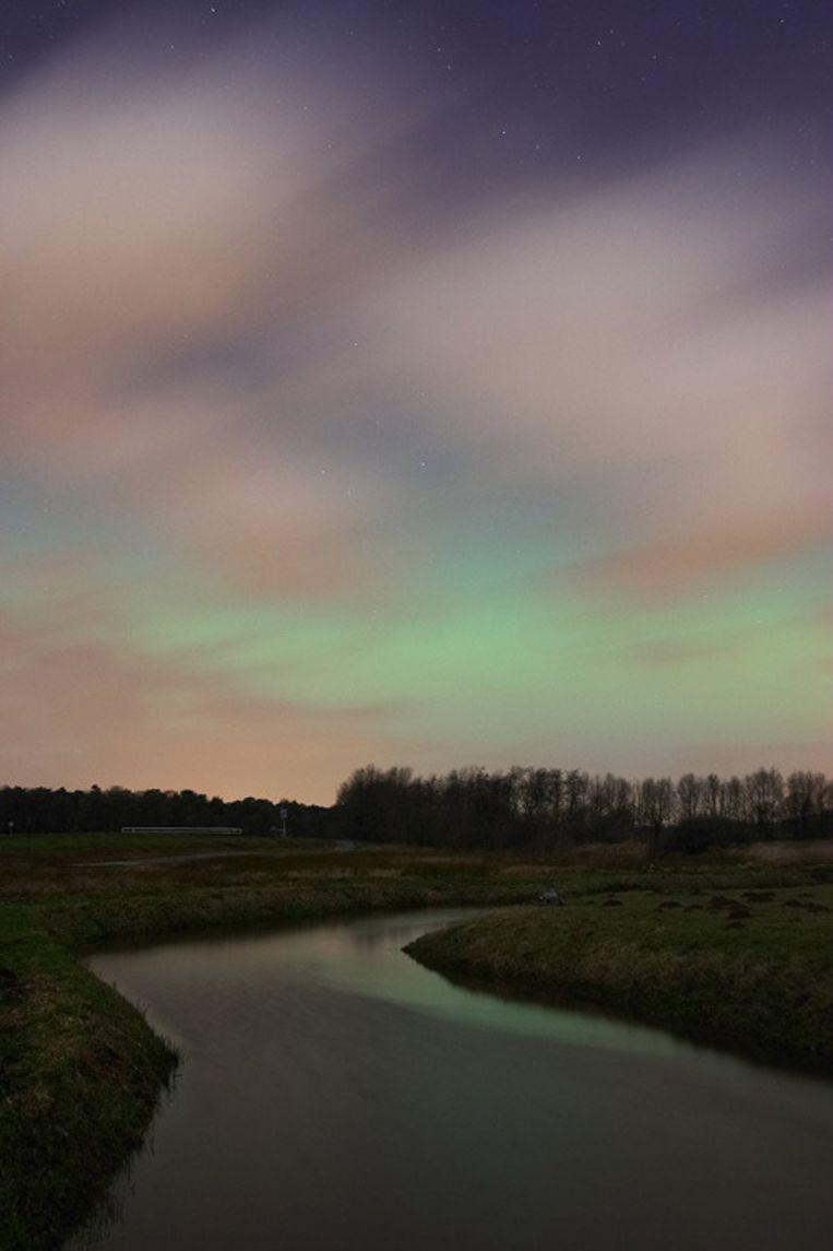 Poollicht boven Nederland (21 januari 2005). © ANP Beeld