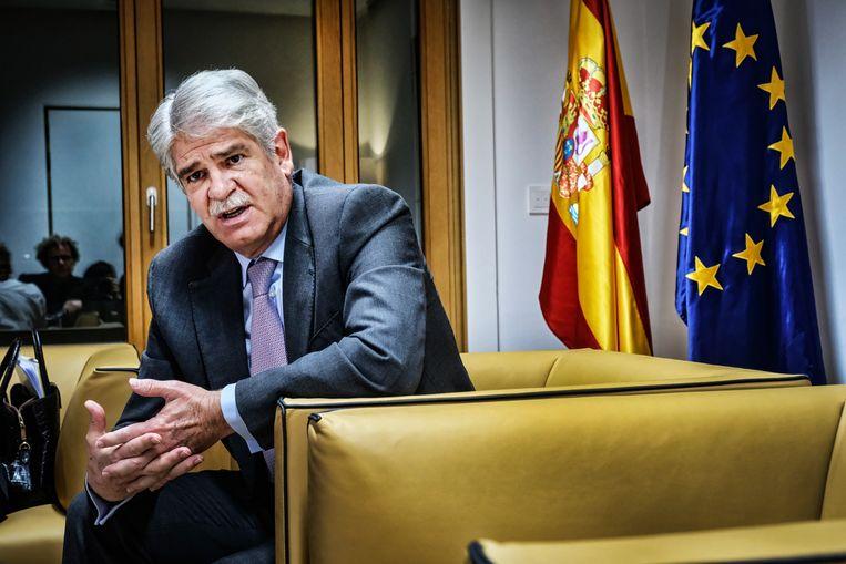 Alfonso Dastis, de Spaanse minister van Buitenlandse Zaken.  Beeld Tim Dirven