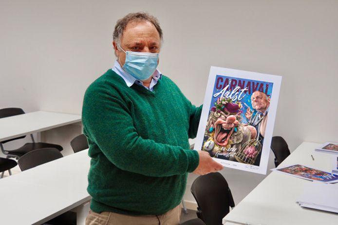 Willy Van Mossevelde laat Marc Van Ranst affiche signeren.