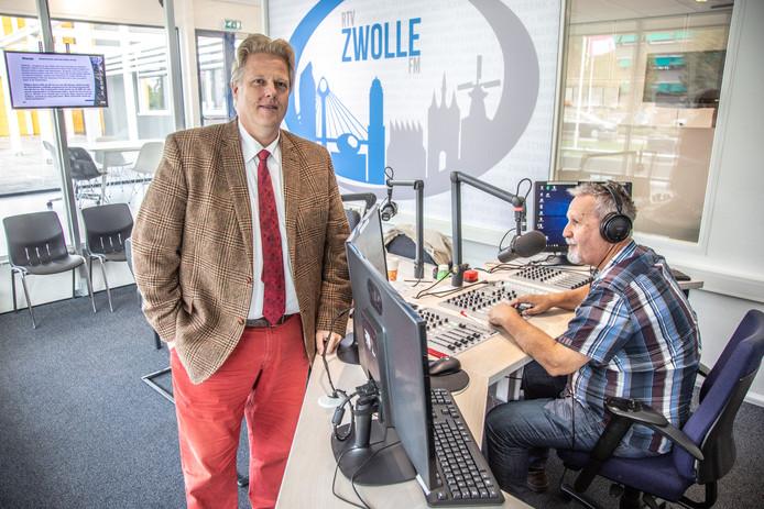 Voorzitter Gert-Jan Weierink van RTV Zwolle FM.
