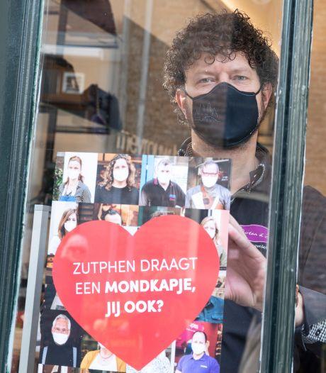 Binnenstadondernemers Zutphen smeken om dragen van mondkapjes: 'We zitten zo nu en dan in een spagaat'