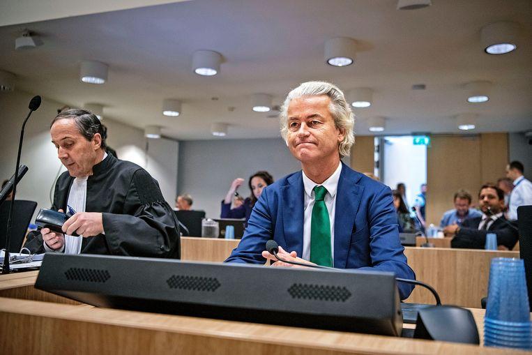 Geert Wilders voor de rechter, misschien voor het laatst. Beeld Guus Dubbelman/de Volkskrant