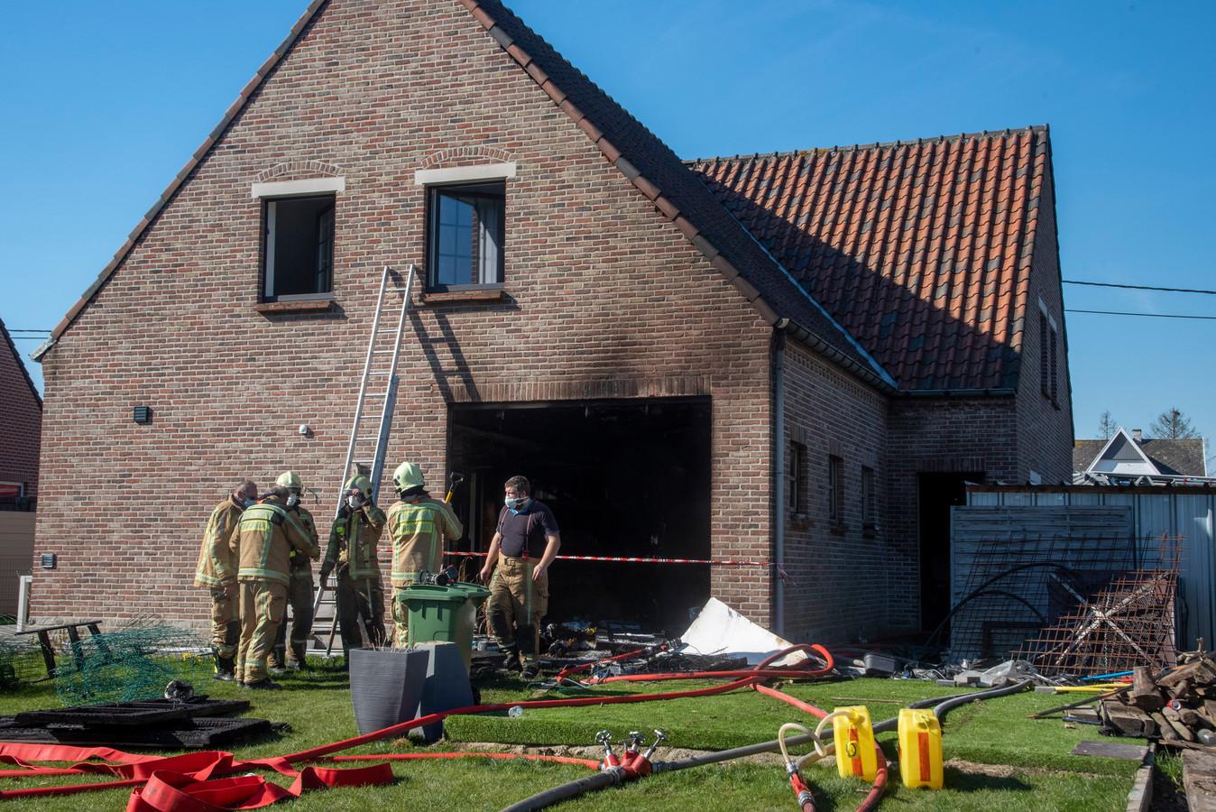 Woningbrand Biesakker 11 in Serskamp.