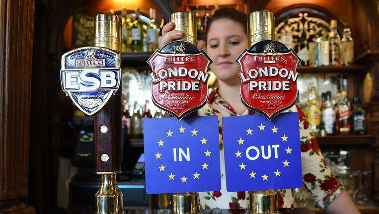 Op 23 juni gaan de Britten stemmen over het verblijf in de EU. Beeld epa