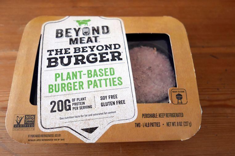 De plantaardige PLT-burgers van Beyond Meat waarmee McDonald's een test gaat uitvoeren. Beeld AP