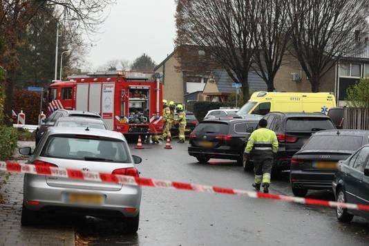 Hulpdiensten bij het incident in Gendt.