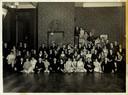 'Slotfuif' in de art deco balzaal bij Dansinstituut Wensink in circa 1930.
