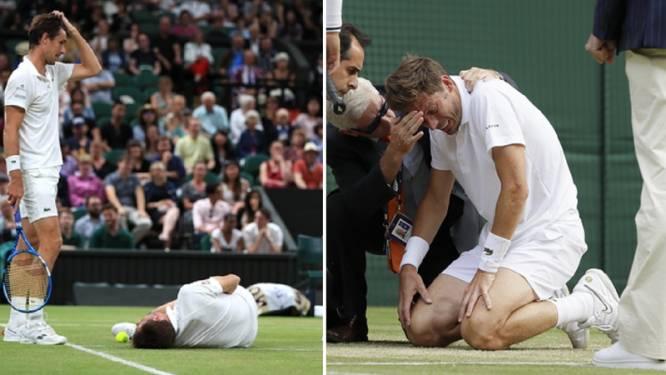 Nicolas Mahut was gisteren de pechvogel van de dag op Wimbledon
