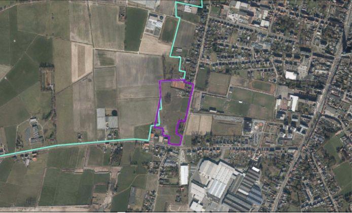 De zoekzone voor uitbreiding van sportsite Wereldakker situeert zich tegenover de parking van HVV in de Katelijnestraat.