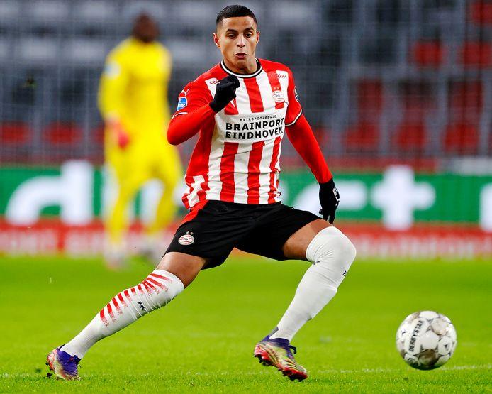 Mo Ihattaren tijdens het duel van PSV met AZ.