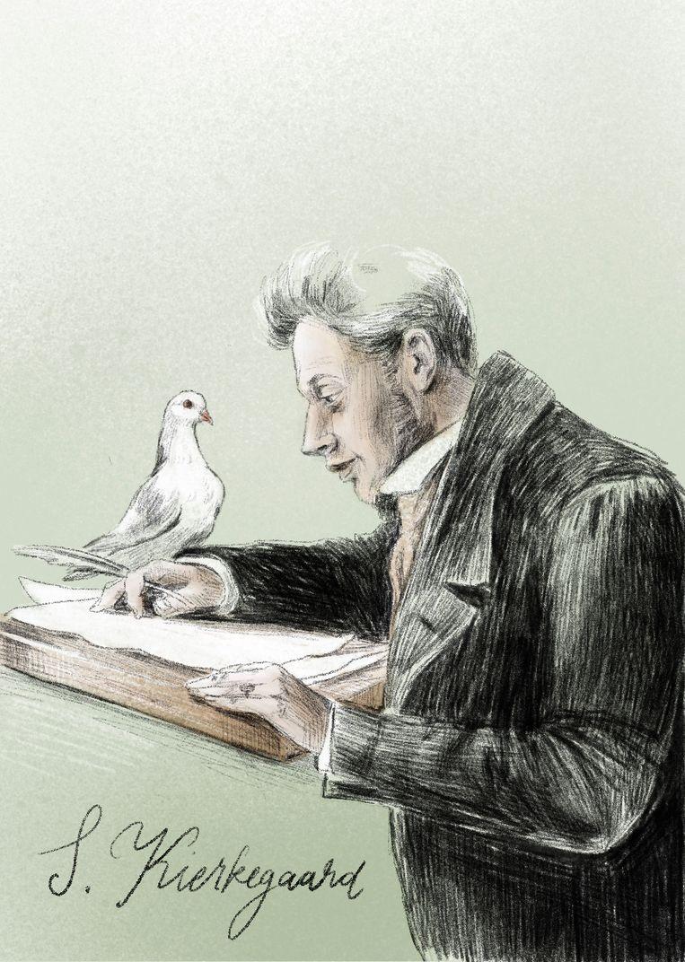 Karl Verstrynge: 'Kierkegaard leert ons dat de overschatting van onszelf als mens gevaarlijk is.' Beeld Penelope Deltour