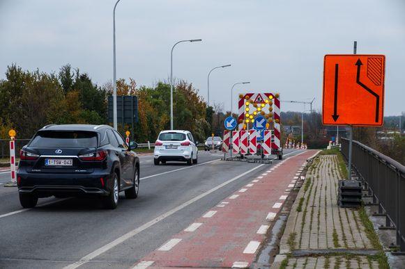 De werken aan de Liersebaan in Massenhoven.