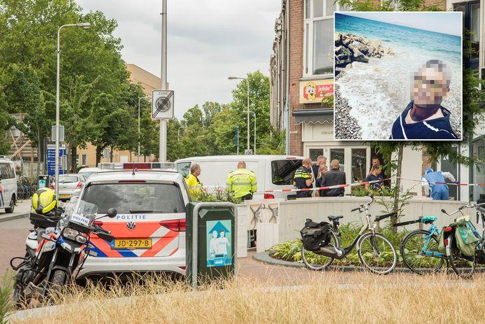 Politie op de Bosboomstraat, vlak na de moord op Laura Korsman zomer 2018. Inzet: Zamir M., alias dj Sammy G.