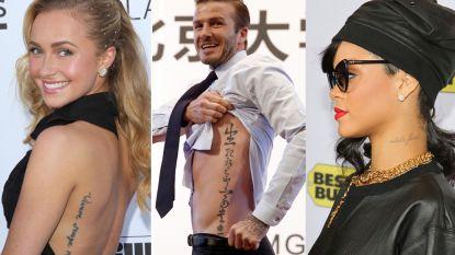 Oeps, pijnlijk! Ook deze sterren hebben kemels van spelfouten in hun tatoeage staan