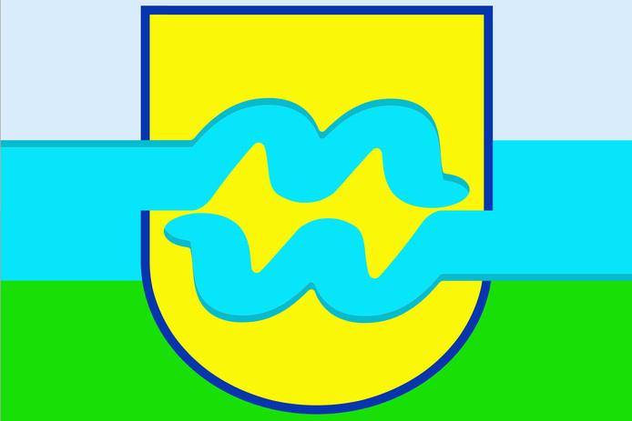 De vlag van Maas en Waal.
