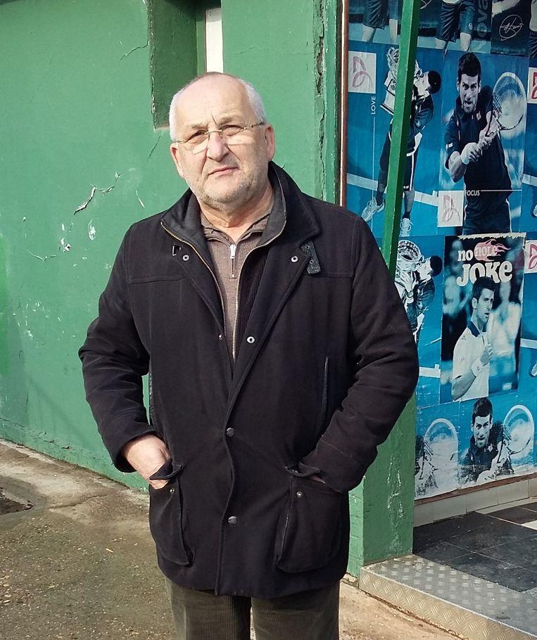 Dusan Grujic bij Teniski club Partizan. Beeld foto auteur