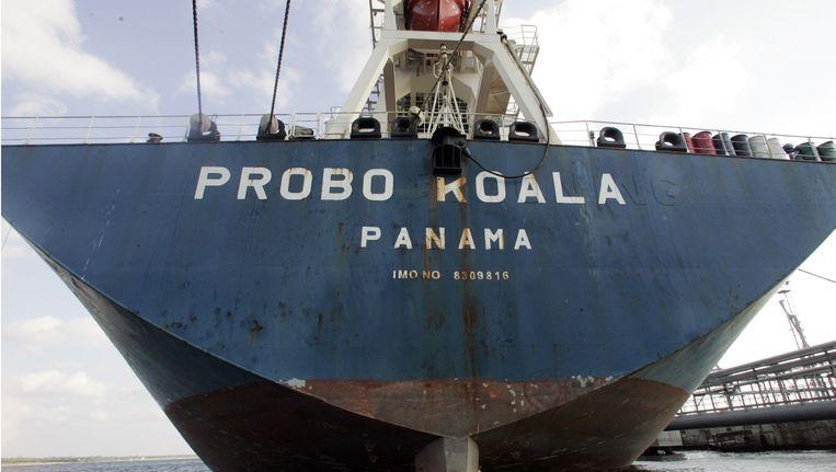 Schip Probo Koala dat gecharterd was door Trafigura om giftig afval te lozen. Beeld AFP