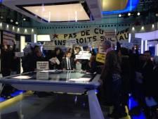 Le JT de FR2 interrompu par des manifestants