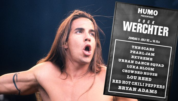 Red Hot Chili Peppers op Werchter in 1992.