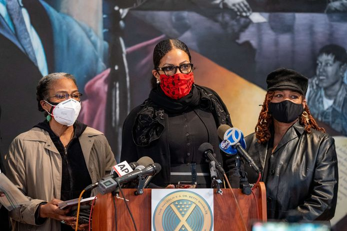 Qubiliah Shabazz, Ilyasah Shabazz en Gamilah Shabazz, de dochters van Malcolm X.