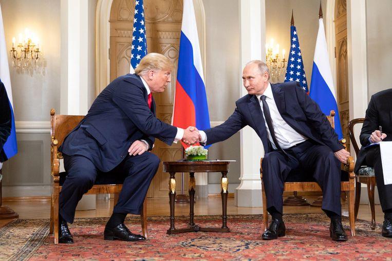 'Trump is eigenlijk een kleptocraat is die probeert om in de gunst te komen bij de Russische president Poetin om zijn leningen terug te kunnen betalen.' Beeld Photo News
