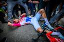 Mathieu van der Poel na de gewonnen Amstel Gold Race.