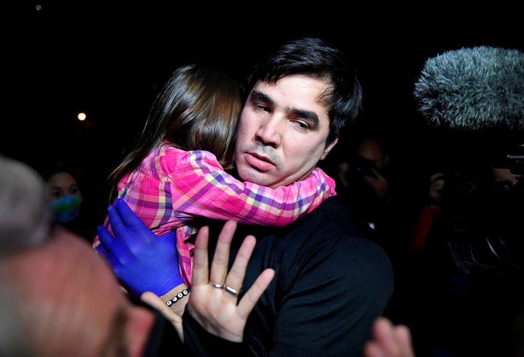 Activist Jose Daniel Hernandez is een van de 110 vrijgelaten politieke gevangenen.   Beeld AFP