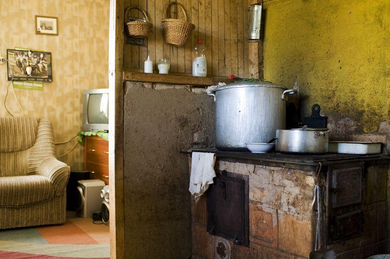 Het huis van Waltraut Minnt in Litouwen, waar ze woont met haar zoon. Beeld Claudia Heinermann